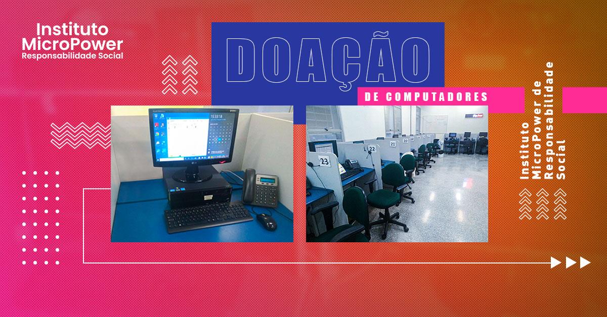 Laramara recebe doação de computadores do Instituto MicroPower de Responsabilidade Social
