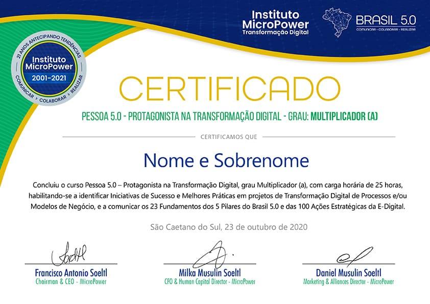 Certificado - Multiplicador