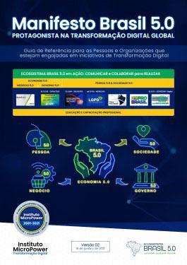 Capa do eBook – Manifesto Brasil 5.0 – Protagonista na Transformação Digital Global – V02