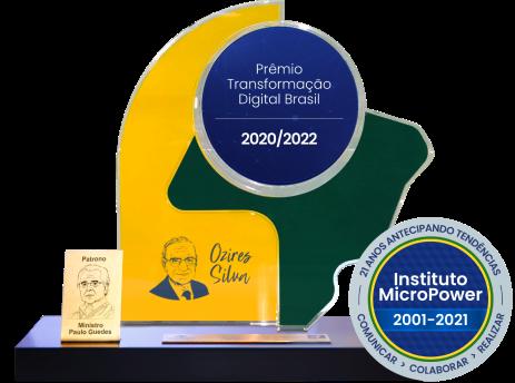 Troféu Premio Transformação Digital Brasil 2020/2022