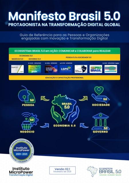 Capa do eBook – Manifesto Brasil 5.0 – Protagonista na Transformação Digital Global – V02.1