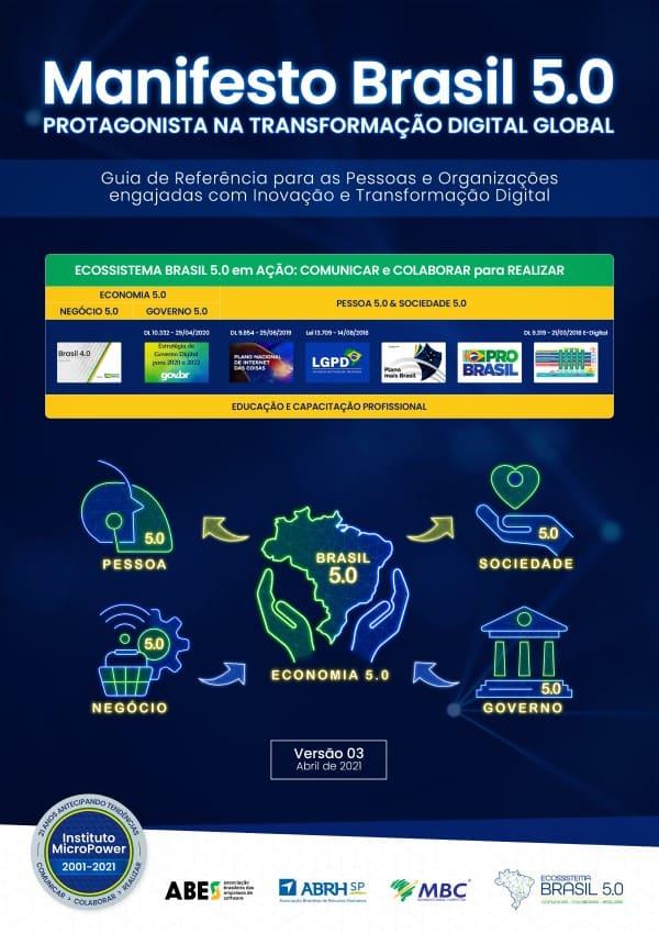 Capa do eBook – Manifesto Brasil 5.0 – Protagonista na Transformação Digital Global – V03