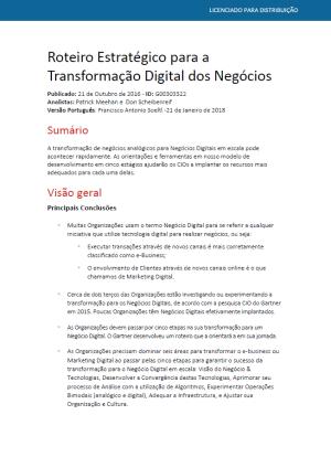 Capa do eBook Roteiro Estratégico para a Transformação Digital dos Negócios